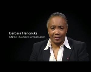 Barbara Hendricks, ambassadrice de bonne volonté honoraire à vie auprès du HCR, source unhcr.fr