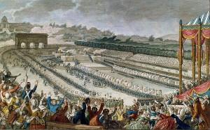 100 000 Parisiens au Champ-de-Mars pour la Fête de la Fédération le 14 juillet 1790. [Photo tirée de www.elysee.fr]