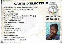 carte électeur d'un enfant